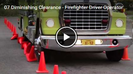 Diminishing Clearance - Firefighter Driver Operator Test