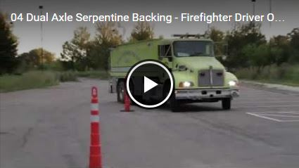 Dual Axle Serpentine Backing - Firefighter Driver Operator Practice Test