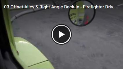 Offset Alley & Right Angle Back-In - Firefighter Drivers Training Videos